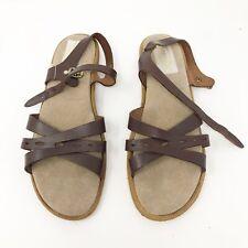 TIAMOWomen's Sandals Leather Brown Size 10 Comfortable priest Sandals