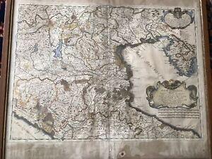 Antica carta geografica della bassa lombardia 1681