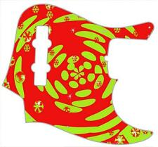 J Bass Pickguard Custom Fender Graphic Graphical Guitar Pick Guard Orange Lime