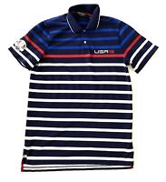 Ralph Lauren Golf Polo Striped USA Sports Shirt Short Sleeve Mens Size Small S