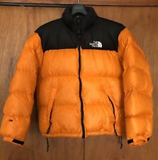 Vintage 90s The North Face Nuptse Orange XL Down Jacket supreme Condition! Rare!