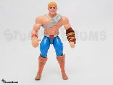 Vintage 1989 BATTLE PUNCH He-MAN Action Figure MOTU New Adventures w/ Arm Band
