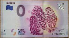 1 x 0 Euro Schein Null € Eurobanknote KIZOODO EULE 2018-2 Souvenir