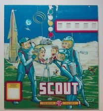 FLIPPER PINBALL SCOUT AG PANELLO FRONTALE