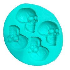 Skull Head Silicone Fondant Cake Mould Sugar Chocolate Mold Halloween Party