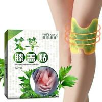12pcs Knee Moxa Hot Moxibustion Plaster Leg Pain Relief Warming Meridians Patch