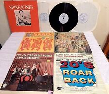 #185 Lot 5 LPs+Spike Jones 3 LP+Shema Kolenu signed+20s+Polkas+Frank Yankovic