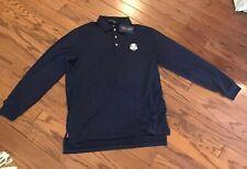 Polo Golf Ralph Lauren men's Navy 3 Button pullover long sleeve shirt Usa Nwt L