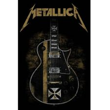 Metallica Hetfield Guitar Black Textile Flag 66x105cm
