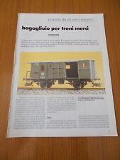 BAGAGLIAIO PER TRENO MERCI FS TIPO 1930 MODELLO FERROVIARIO TRENI ELABORAZIONE