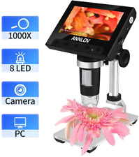 Lcd Digital Microscope 43 Inch Usb 50x 1000x Magnification Coin Camera 8 Led