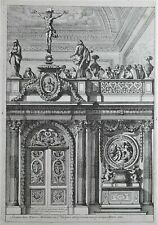 Gravures Jean Le Pautre Suite 6 Planches Portes de Chœur avec leurs Jubez 1661