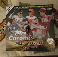 2018 Topps Chrome Update Mega sealed Box Acuna, Ohtani, Soto,Torres rookie Auto?