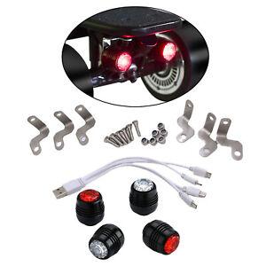 4x Skateboard LED Leuchten USB Electric Longboard Vorder  und Rücklichtlampe