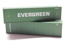 HO Scale Athearn Walthers Lot of (2) Evergreen 40' Intermodal Shipping Container