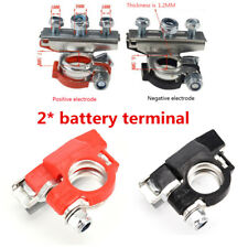 2x Pure Copper Battery Terminal Heavy Duty Car Quick Connector Cable Clamp Clip (Fits: Gmc Safari)