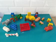 18.10.14.6 LEGO DUPLO lot pièce personnages animaux La ferme vintage ancien