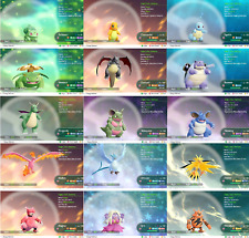 Pokemon Lets Go Pikachu & Eevee Shiny All 153 + Alolan  - 3 Pack - You Choose