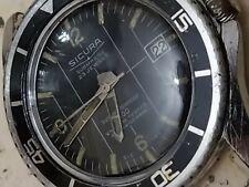 vintage sicura submarine 400 divers vacuum tested men wrist watch