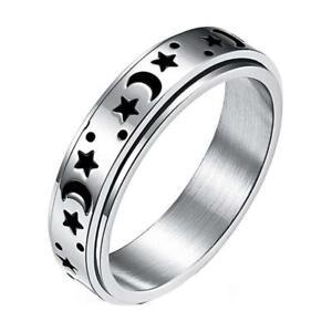 Stainless Steel Fidget Anxiety Ring for Women Fidget Spinner Stress Worry Rings