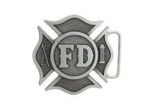 FD Fire Department Firefighter Dept. Metal Belt Buckle