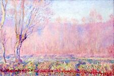 "Claude Monet Pink Willows CANVAS ART PRINT poster 24""X18"""