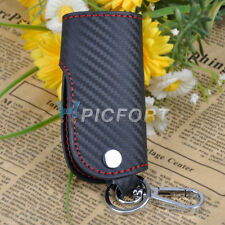 New Leather Carbon Fiber Remote Key Case chain keyless Fob cover Holder