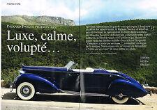 Coupure de presse Clipping 014 2013 PACKARD TWELVE PHAETON 1937 LE BARON (6 pgs)
