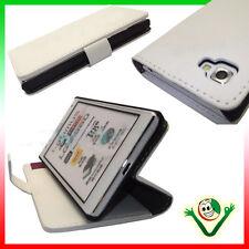 Custodia BIANCA in eco pelle per LG Optimus 4x HD P880 con funzione stand+tasche