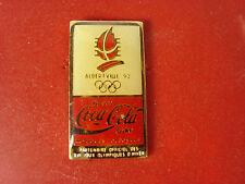 pins pin jo albertville 1992 olympique coca cola