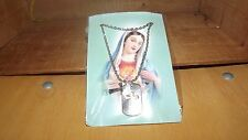 CATHOLIC VIRGIN MARY BLESSED MOTHER METAL ON CHAIN