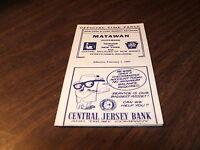 1967 NY&LB NEW YORK & LONG BRANCH CNJ PRR MATAWAN, NJ  OFFICIAL TIMETABLE