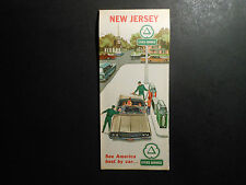 VINTAGE 1964 OIL CO. ROAD MAP, CITIES SERVICE NEW JERSEY SEE AMERICA BEST BY CAR