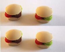 Lego 4 X Burger Food Buns for Minifigs Spongebob Bread