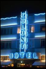 562000night vista de la Colonia Hotel Sign Miami Beach A4 Foto Impresión
