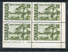 MNH 10c Tagged Centennial PVA GUM LR Pl. Block #462piv