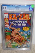 Ka-Zar #1 CGC 9.4 Marvel 1970 Avengers! White! B6 119 cm