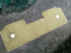 1971-1978 Cadillac Eldorado Original Rear Seat Rubber Floor Mat Ivory Green Gold