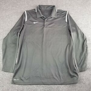 Nike Dri-Fit Polo Shirt Size Extra Large Long Sleeve Golf Polyester Mens Adult