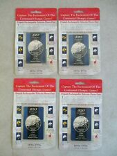 LOT OF 4 CENTENNIAL OLYMPIC GAMES PREPAID RECHARGEABLE TELECOIN PHONE PASS'S MIP