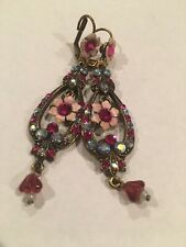 Michal Negrin Vintage Style Floral Earrings EXCELLENT CONDITION!!!