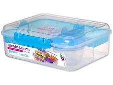 COLORI assortiti sistema Bento pranzo Box to Go 1.65 L ufficio Sandwich Scuola Lavoro