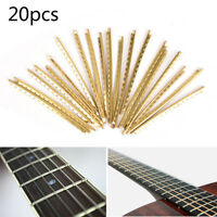 20pcs/set Classical Acoustic Guitar Brass Fret Wire Fingerboard Frets 2.0mm NWUS