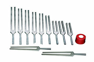 14 Meridian Accupuncture Tuning Forks w Activator+Pouch