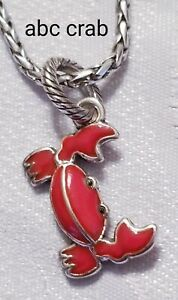 Brighton retired ABC Crab red enamel pendant charm B670