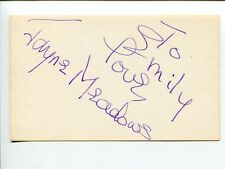 Jayne Meadows City Slickers High Society Lady in the Lake Signed Autograph