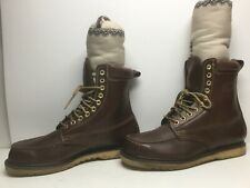 VTG MENS RAMRODS FULLY INSULATED WORK BROWN BOOTS SIZE 12