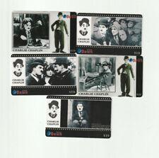 (5) Charlie Chaplin Rare Phone Cards