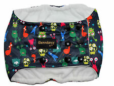 SIZE LARGE - MALE DOG BELLY BAND NAPPY PANTS - WATERPROOF FABRIC - ALIENS
