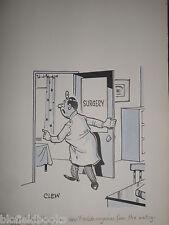 "Clifford C Lewis ""de Clew"" Original Pen & Ink Cartoon-chirurgie MAGAZINE #281"